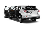 Car images close up view of a 2017 Lexus RX 350 L 5 Door SUV doors
