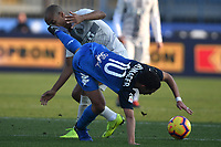 Ismael Bennacer of Empoli and Joao Mario of Internazionale compete for the ball during the Serie A 2018/2019 football match between Empoli and Internazionale at stadio Castellani, Empoli, December, 29, 2018 <br /> Foto Andrea Staccioli / Insidefoto