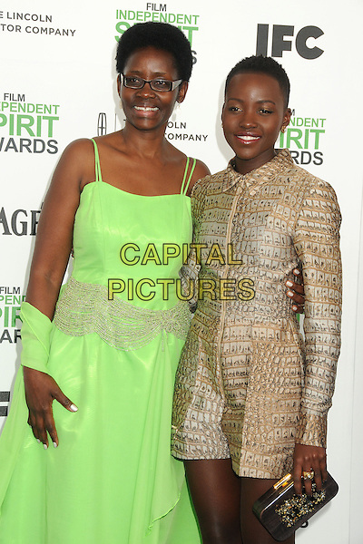 1 March 2014 - Santa Monica, California - Lupita Nyong'o. 2014 Film Independent Spirit Awards - Arrivals held at Santa Monica Beach. <br /> CAP/ADM/BP<br /> &copy;Byron Purvis/AdMedia/Capital Pictures