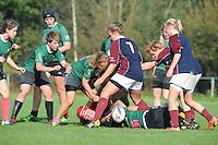 RUGBY: HEERENVEEN; 12-10-2014, De Fryske Rugby Famkes - RFC Haarlem/AAC, uitslag 44 - 12, ©foto Martin de Jong