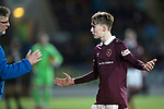 St Johnstone v Hearts&hellip;23.12.17&hellip;  McDiarmid Park&hellip;  SPFL<br />Craig Levein with Harry Cochrane after he had been shown a red card<br />Picture by Graeme Hart. <br />Copyright Perthshire Picture Agency<br />Tel: 01738 623350  Mobile: 07990 594431