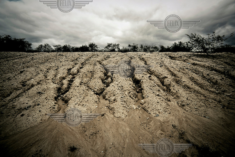Dried ground in the Brazilian sertao (desert).