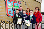 Lorcan Ryan, Emer O' Sullivan, Rory Dalton, 6th class winners of the Primary Science Quiz in the IT South Campus on Thursday 19th. here with teachers Tomás O' Hanafin, Betty Stack and Joan Holland