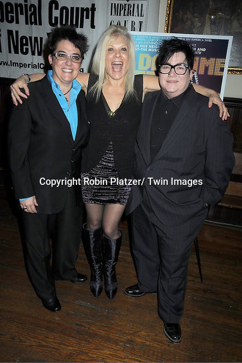 "Ilene Kristen and Lea DeLaria attends The ""Daytime Meets Nighttime"" hosted by ..The Imperial Court of New York on November 4, 2011 at ..The Jan Hus Theatre in New York City. The benefit was for The Jan Hus Theatre and Lifebeat."