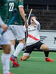 AMSTELVEEN - Jan-Willem Buissant (Adam) heeft gemist   tijdens de hoofdklasse competitiewedstrijd heren, AMSTERDAM-ROTTERDAM (2-2). COPYRIGHT KOEN SUYK