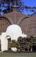 Balboa Park:  Close-up of Botanical Building. Carleton Winslow designed the Botanical Building for the 1915 Exposition.