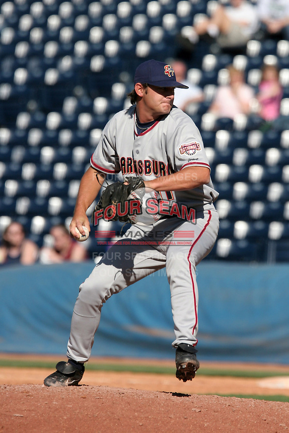 Harrisburg Senators Roy Corcoran during an Eastern League game at Canal Park on April 15, 2006 in Akron, Ohio.  (Mike Janes/Four Seam Images)