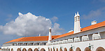 Panoramic view of Pousada do Infante hotel building, Sagres, Algarve, Portugal, southern Europe