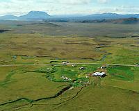 Möðrudalur séð til suðvesturs, Herðubreið í baksýni, Fljótsdalshérað áður Jökuldalshreppur / Modrudalur viewing southwest, mount Herdubreid in background, Fljotsdalsherad former Jokuldalshreppur.