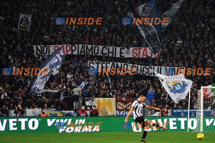 Striscione per Stefano Cucchi <br /> Roma 22-11-2014 Stadio Olimpico, Football Calcio Serie A . Lazio - Juventus. Foto Andrea Staccioli / Insidefoto