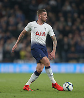 Tottenham Hotspur's Toby Alderweireld<br /> <br /> Photographer Rob Newell/CameraSport<br /> <br /> The Premier League - Tottenham Hotspur v Brighton and Hove Albion - Tuesday 23rd April 2019 - White Hart Lane - London<br /> <br /> World Copyright © 2019 CameraSport. All rights reserved. 43 Linden Ave. Countesthorpe. Leicester. England. LE8 5PG - Tel: +44 (0) 116 277 4147 - admin@camerasport.com - www.camerasport.com