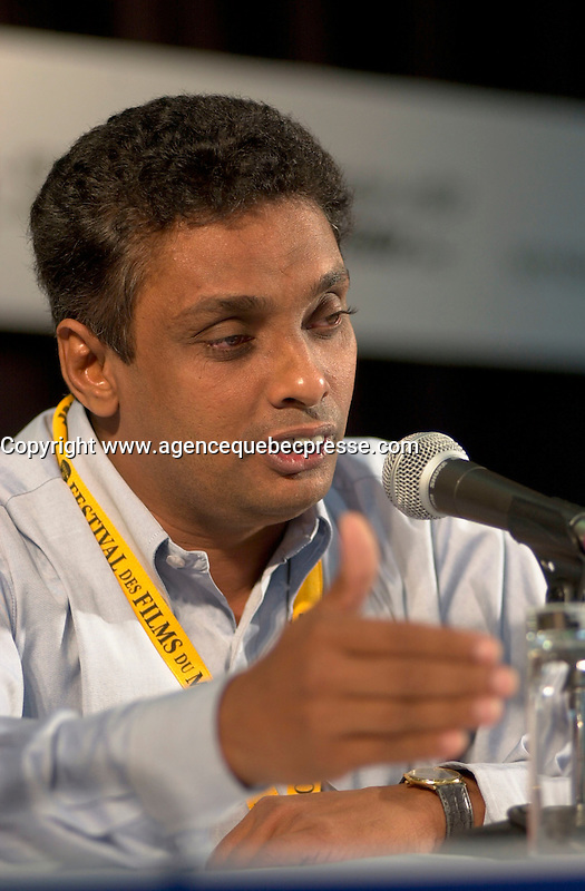 September4,  2003, Montreal, Quebec, Canada<br /> <br /> Prasanna Vithanage, director IRA MADiYAMA (August sun) presented in the official comptetion of the 2003 World Film Festival<br /> <br /> The Festival runs from August 27th to september 7th, 2003<br /> <br /> <br /> Mandatory Credit: Photo by Pierre Roussel- Images Distribution. (&copy;) Copyright 2003 by Pierre Roussel <br /> <br /> All Photos are on www.photoreflect.com, filed by date and events. For private and media sales