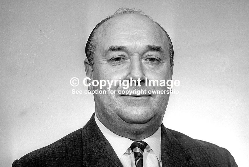 Robert Lloyd Hall-Thompson, Independent Unionist, Clifton, elected in 1969 General Election for the N Ireland Parliament at Stormont. He was a supporter of Prime Minister Captain Terence O'Neill. March 1969. 196903000088<br /> <br /> Copyright Image from Victor Patterson, 54 Dorchester Park, Belfast, UK, BT9 6RJ<br /> <br /> t1: +44 28 9066 1296 (from Rep of Ireland 048 9066 1296)<br /> t2: +44 28 9002 2446 (from Rep of Ireland 048 9002 2446)<br /> m: +44 7802 353836<br /> <br /> e1: victorpatterson@me.com<br /> e2: victorpatterson@gmail.com<br /> <br /> The use of my copyright images is subject to my Terms &amp; Conditions.<br /> <br /> It is IMPORTANT that you familiarise yourself with them. They are available on my website at www.victorpatterson.com.<br /> <br /> None of my copyright images may be used on a website unless they are visibly watermarked, i.e. &copy; Victor Patterson within the body of the visible image. Metadata denoting my copyright must NOT be deleted. <br /> <br /> Web use (maximum size - 400 kb) is extra at currently recommended NUJ rates.