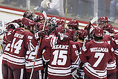- The Boston College Eagles defeated the University of Massachusetts-Amherst Minutemen 5-2 on Saturday, March 13, 2010, at Conte Forum in Chestnut Hill, Massachusetts, to sweep their Hockey East Quarterfinals matchup.