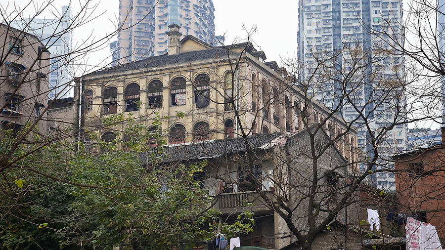A French Consular Building (There Were Three Or More In The City) In Chongqing (Chungking).