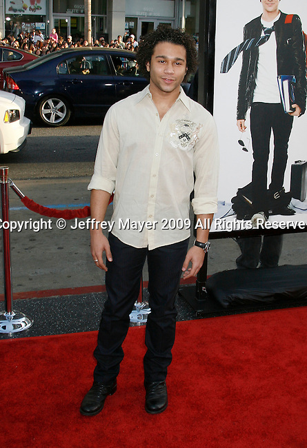 "HOLLYWOOD, CA. - April 14: Corbin Bleu arrives at the premiere of Warner Bros. ""17 Again"" held at Grauman's Chinese Theatre on April 14, 2009 in Hollywood, California."