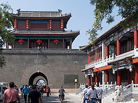 Stadttor von WanPing bei MarcoPolo-Brücke in Peking, China, Asien<br /> City-Gate of WanPing near MarcoPolo-bridge, Beijing, China, Asia
