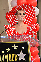Katy Perry at the Hollywood Walk of Fame Star Ceremony honoring Disney character Minnie Mouse, Los Angeles, USA 22 Jan. 2018<br /> Picture: Paul Smith/Featureflash/SilverHub 0208 004 5359 sales@silverhubmedia.com