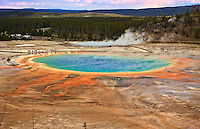 Grand Prismatic Spring, Midway Geyser Basin in Yellowstone National Park