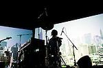 YOSHIMIO, Hisham Akira and Ryan Sawyer perform on stage in Brooklyn.