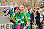 Arlene Mahony and Carmel Quinn at the Kerry's Eye Tralee, Tralee International Marathon and Half Marathon on Saturday.