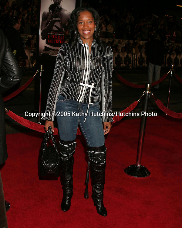 Regina King.Get Rich or Die Trying Premiere.Grauman's Chinese Theater.Los Angeles, CA.November 2, 2005.©2005 Kathy Hutchins / Hutchins Photo