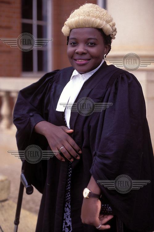 © Giacomo Pirozzi / Panos Pictures..ZAMBIA..Female judge.