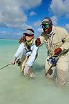 Leah Sodowick Saltwater Fly Fishing in Christmas Island