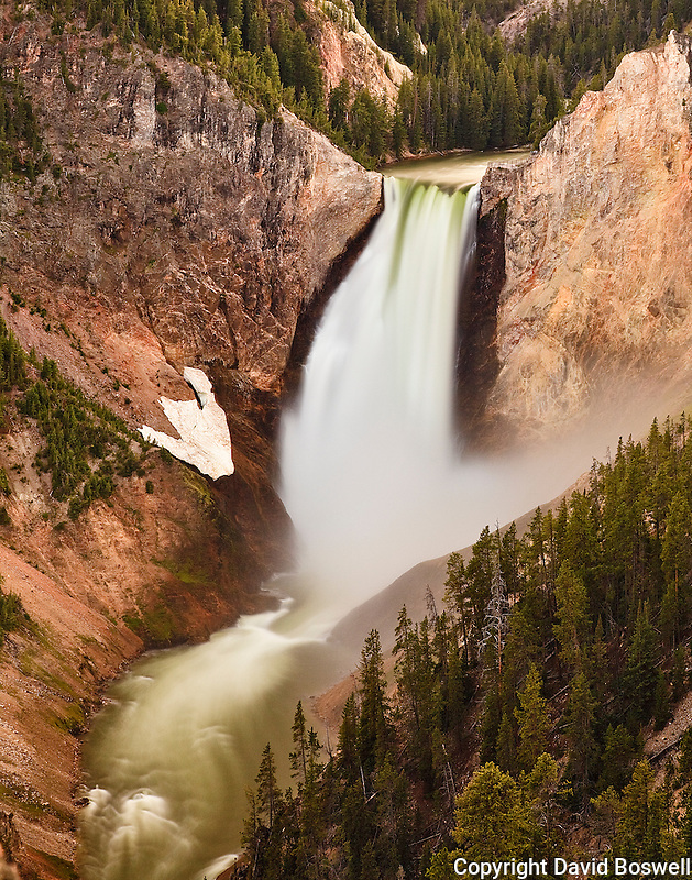 Lower Yellowstone Falls, taken from the North Rim of the Grand Canyon of Yellowstone National Park