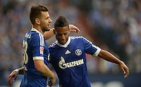 FUSSBALL   1. BUNDESLIGA   SAISON 2013/2014   8. SPIELTAG FC Schalke 04 - FC Augsburg                                05.10.2013 Jubel: Adam Szalai (li) und Dennis Aogo (re, beide FC Schalke 04)