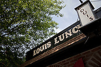 Louis' Lunch hamburger joint in New Haven, CT, USA, 26 May 2009.