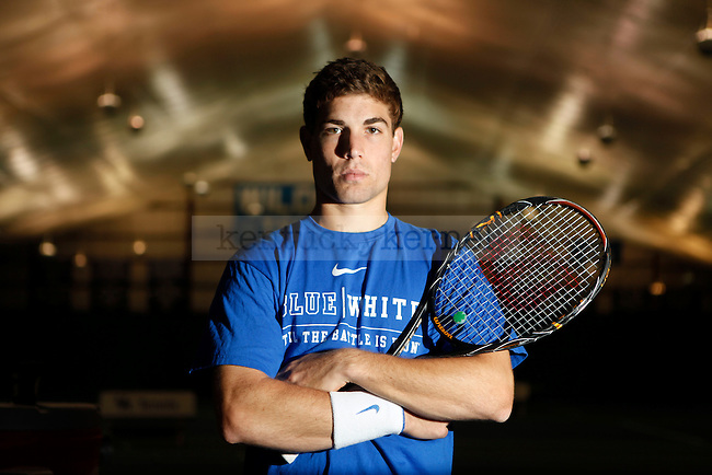 Sophomore Eric Quigley has been very important to the Kentucky tennis team this fall. Photo by Zach Brake | Staff
