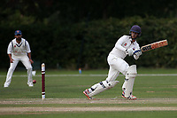 Kieran Emmanuel in batting action for Brentwood during Brentwood CC vs Wanstead and Snaresbrook CC, Essex Cricket League Cricket at The Old County Ground on 12th September 2020
