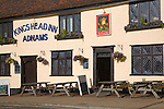 King's Head Inn, Adnams public house on Market Hill, Woodbridge, Suffolk, England