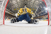 1/18/08 Men's varsity ice hockey vs. University of Notre Dame at Yost Ice Arena with net cam. U-M won 3-2 with 20.3 second left on the clock in the third period.