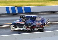 May 30, 2014; Englishtown, NJ, USA; NHRA pro mod driver Kenny Lang during qualifying for the Summernationals at Raceway Park. Mandatory Credit: Mark J. Rebilas-