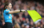 Assistant Referee, Sian Massey-Ellis rules the goal by Arsenal's Alexandre Lacazette offside before the decision is overturned by VAR during the Premier League match at the Emirates Stadium, London. Picture date: 7th March 2020. Picture credit should read: Paul Terry/Sportimage