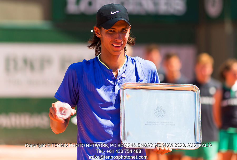 ALEXI POPYRIN (AUS)<br /> <br /> TENNIS - FRENCH OPEN - ROLAND GARROS - ATP - WTA - ITF - GRAND SLAM - CHAMPIONSHIPS - PARIS - FRANCE - 2017  <br /> <br /> <br /> <br /> &copy; TENNIS PHOTO NETWORK