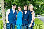 Enjoying the Colaiste Ide agus Iosef, Abbeyfeale  Debs at Ballyroe Heights Hotel on Tuesday were L-R  Michael Brosnan, Marissa Hickey, Mark Buckley and Tessa Collins