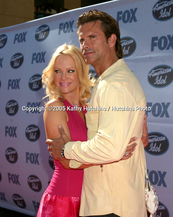 Lorenzo Lamas.Barbara Moore.American Idol 4 FInals.Kodak Theater.Hollywood & Highland.Los Angeles, CA .May 25, 2005.©2005 Kathy Hutchins / Hutchins Photo...
