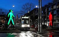 Nederland Amsterdam 2015 14 01. Amsterdam Light Festival. Strangers in the Light vam Victor Engbers en Ina Smits