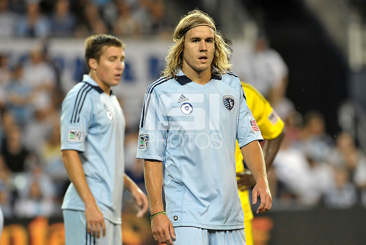 Chance Meyers Sporting KC defender... Sporting Kansas City defeated Columbus Crew 2-1 at LIVESTRONG Sporting Park, Kansas City, Kansas.