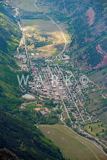 Aerial of Telluride, Colorado. June 2013