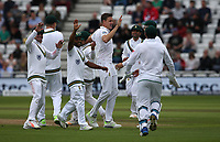 South Africa's Morne Morkel (centre) celebrates taking the wicket of England's Alastair Cook<br /> <br /> Photographer Stephen White/CameraSport<br /> <br /> Investec Test Series 2017 - Second Test - England v South Africa - Day 2 - Saturday 15th July 2017 - Trent Bridge - Nottingham<br /> <br /> World Copyright &copy; 2017 CameraSport. All rights reserved. 43 Linden Ave. Countesthorpe. Leicester. England. LE8 5PG - Tel: +44 (0) 116 277 4147 - admin@camerasport.com - www.camerasport.com