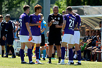 APPINGEDAM - Voetbal, DVC Appingedam - FC Groningen, voorbereiding seizoen 2019--2020, 29-06-2019,  FC Groningen assistent-trainer Adrie Poldervaart  geeft uitleg