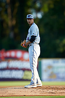 Winston-Salem Dash starting pitcher Jorgan Cavanerio (36) looks to his catcher for the sign against the Myrtle Beach Pelicans at TicketReturn.com Field on May 16, 2019 in Myrtle Beach, South Carolina. The Dash defeated the Pelicans 6-0. (Brian Westerholt/Four Seam Images)