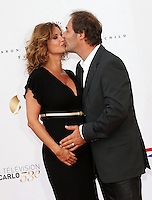 Ingrid Chauvin ( pregnant ) & Thierry Peythieu  - 53rd Monte-Carlo TV Festival Opening Ceremony