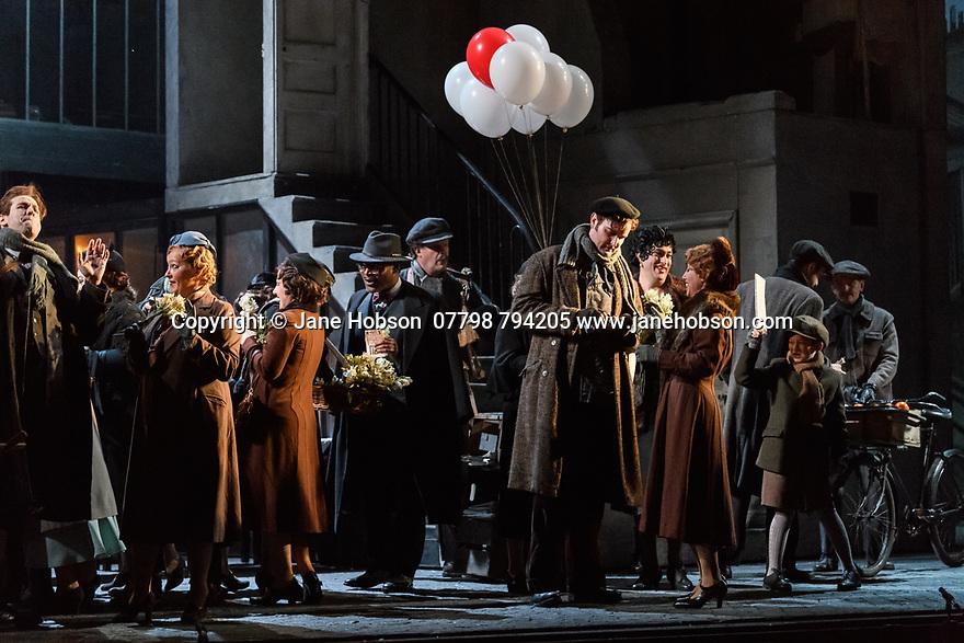 "English National Opera present their fourth revival of Jonathan Miller's production of Puccini's ""La Boheme"", in which Natalya Romaniw makes her ENO debut. Cast is: Natalya Romaniw (Mimi), Jonathan Tetelman (Rodolfo), Nicholas Lester (Marcello), Simon Butteriss (Benoit/Alcindoro), Nadine Benjamin (Musetta), David Soar (Colline), Bozidar Smiljanic (Schaunard). Picture shows: Nicholas Lester (Marcello)"
