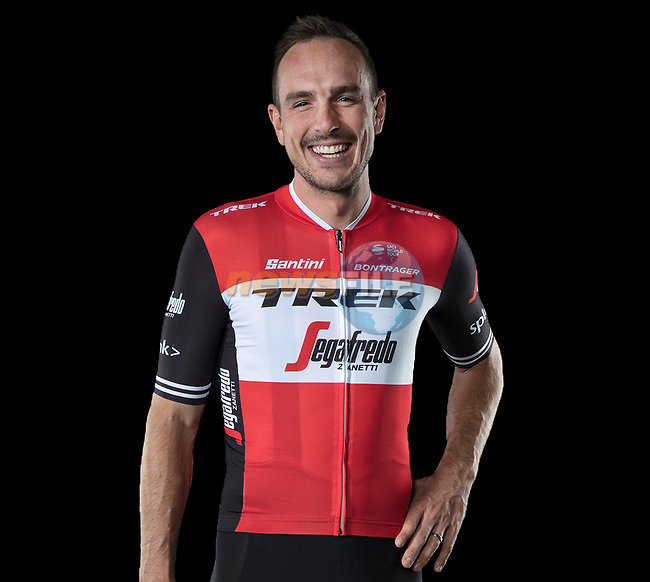 The London Rouleur Classic event provided the venue for today's unveiling of the new Trek-Segafredo men's and women's kits for the upcoming 2019 racing season. John Degenkolb (GER) models the men's kit. 2nd November 2018.<br /> Picture: Trek Factory Racing | Cyclefile<br /> <br /> <br /> All photos usage must carry mandatory copyright credit (© Cyclefile | Trek Factory Racing)