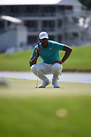 Tony Finau (USA) during the second round of The Tour Championship, East Lake Golf Club, Atlanta, Georgia, USA. 22/08/2019.<br /> Picture Ken Murray / Golffile.ie<br /> <br /> All photo usage must carry mandatory copyright credit (© Golffile | Ken Murray)